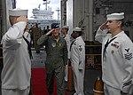 US Navy 100824-N-6764G-091 Gen. Douglas Fraser arrives aboard USS Kearsarge (LHD 3) for a guided tour.jpg