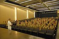 US Navy 101014-N-6736S-016 Rear Adm. Micheal J. Yurina, director of Strategic Planning and Communication, Submarine Warfare Division, delivers rema.jpg