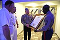 US Navy 101113-M-2581P-006 Marine Corps Gen. James F. Amos, center, and Sgt. Maj. of the Marine Corps Carlton W. Kent, right, present a framed cert.jpg