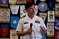 US Navy 110722-N-HW977-148 Capt. Jay Kadowaki, commanding officer of Naval Surface Warfare Center, Corona Division, delivers remarks to the Oceansi.jpg