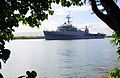 US Navy 110727-N-WX059-030 USS Cleveland (LPD 7) departs Joint Base Pearl Harbor-Hickam on its final deployment.jpg