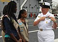 US Navy 110728-N-DO220-064 U.S. 3rd Fleet Command Master Chief JoAnn Ortloff speaks with the Girl Scout Troop 6705 about the similarities in Sailor.jpg