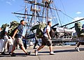 US Navy 110822-N-AU127-733 Chief selectees arrive at the USS Constitution.jpg