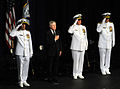 US Navy 110923-N-FC670-001 Chief of Naval Operations (CNO) Adm. Gary Roughead is relieved by Adm. Jonathan W. Greenert as the Chief of Naval Operat.jpg