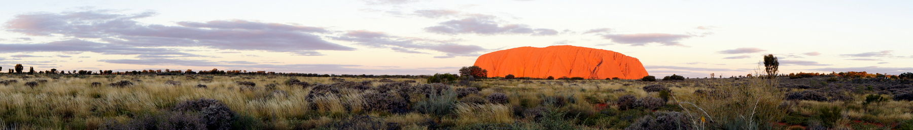 Uluru glowing at sunset, Uluru-Kata Tjuta National Park, Northern Territory