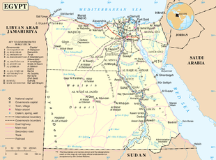 Mappa dell'Egitto.
