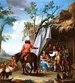Un hombre a caballo junto a tienda de campaña, de Ginés Andrés de Aguirre (Museo del Prado).jpg