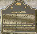 Union Cemetery (Redwood City, CA) CA Marker.jpg