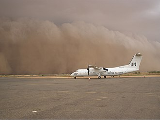 Haboob - Image: United Nations Dash 8 Haboob Sudan UA 320 1