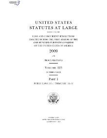 United States Statutes at Large Volume 123.djvu