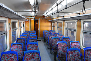 Beovoz - Interior of a Beovoz train