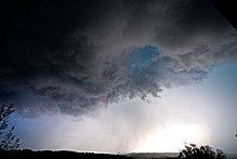 Storm with heavy rain and hail