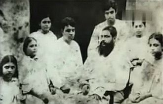 Sukumar Ray - Sukumar Ray with his father Upendrakishore Ray, mother Bidhumukhi and five siblings.