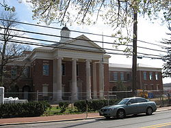 The Upper Marlboro courthouse under renovation in 2008.