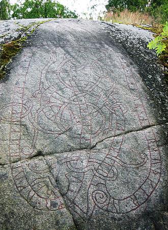 Uppland Runic Inscription Fv1946;258 - Runic inscription U Fv1946;258 is located in Fällbro, Uppland, Sweden.