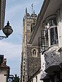 Upward view of two historic highlights of Ipswich - geograph.org.uk - 896385.jpg