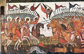 Novgorod Oblast - Battle between Novgorod and Suzdal in 1170, the icon from 1460