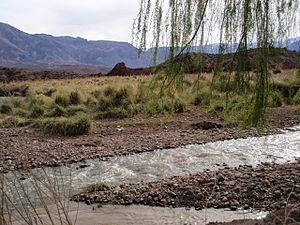 Uspallata - Typical landscape of uspallata