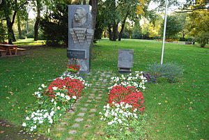 Uzeyir Hajibeyov - Commemorative stelae in Donaupark, Vienna.