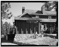 VIEW FROM NORTHWEST CORNER, SERVICE YARD - Bryce Canyon Lodge, Bryce Canyon, Garfield County, UT HABS UTAH,9-BRYCA,1-35.tif