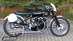 Suspension (motorcycle) - Vincent Black Lightning with Girdraulic front suspension