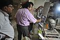 Vallabhbhai Jhaverbhai Patel Bust in Progress - Kolkata 2016-08-30 6469.JPG