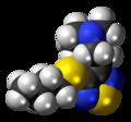 Vedaclidine molecule spacefill.png