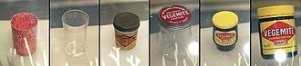 Vegemite - Image: Vegemite jars timeline