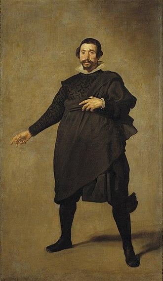 Portrait of Pablo de Valladolid - Image: Velázquez Pablo de Valladolid (Museo del Prado, 1636 37)