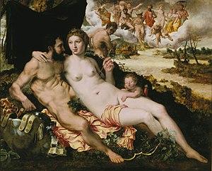Romanism (painting) - Venus en Mars by Frans Floris
