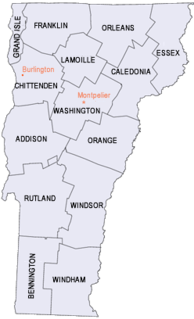 Vermont statistical areas Wikimedia list article