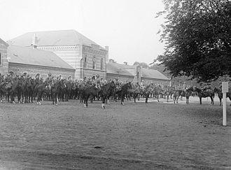 Vester Allés Kaserne - Dragoon Parade at Vester Allés Kaserne (1929).