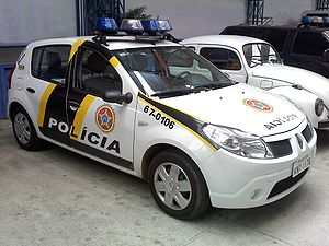 Civil Police of Rio de Janeiro State - Police car in older graphics.