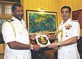 Vice Admiral Jayantha Perera exchanging mementos with Admiral RK Dhowan.JPG