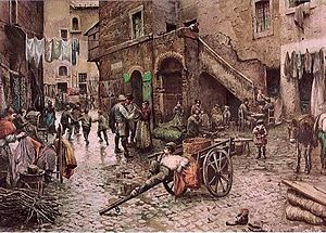 Pope Paul IV - Vicolo Capocciuto, Roman Ghetto by Franz Roesler c.1880