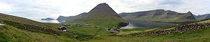 Viðareiði - Panorama of Viðareiði.