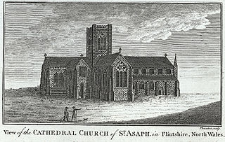View of the cathedral church of St. Asaph, in Flintshire, north Wales