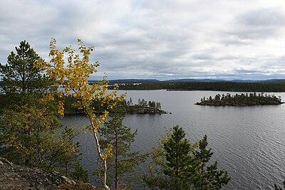 Utsikt över Enare träsk (Inarijärvi)