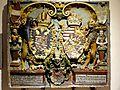 Villingen, Franziskanermuseum, Habsburg. Wappentafel vom Kaufhaus, Irdenware, Franz Kraut, 1574, Inv. 11859.jpg