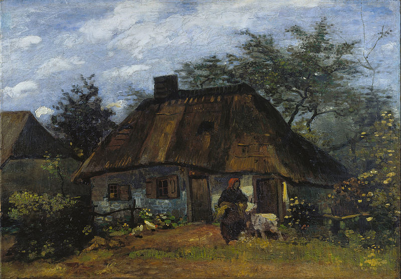 File:Vincent van Gogh - Farmhouse in Nuenen - Google Art Project.jpg