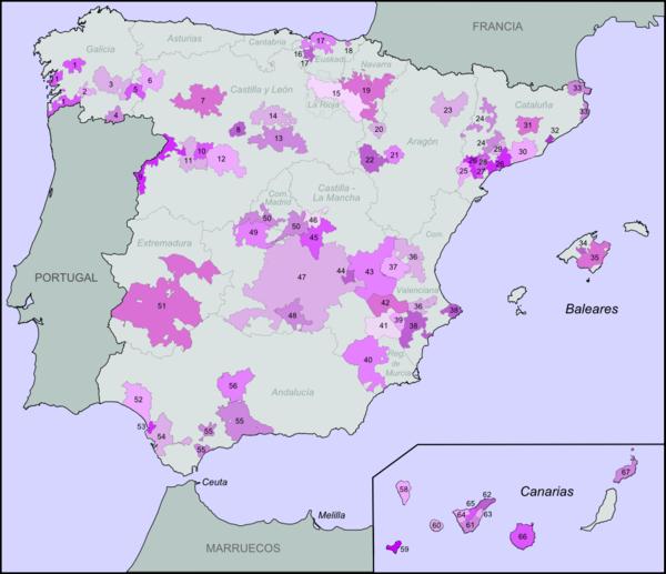 Spanish Wine regions