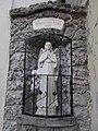 Virgin Mary statue (1948), Kisasszony Church in Eger, 2016 Hungary.jpg