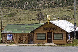 Virginia Dale, Colorado - Shuttered cafe and post office in Virginia Dale