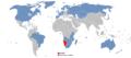 Visa-free countries to Namibia.png