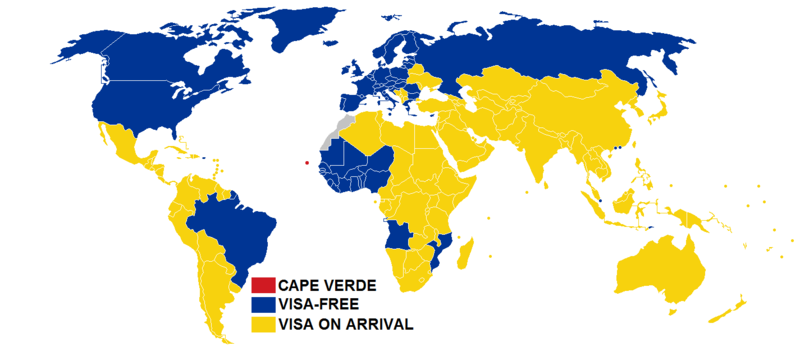 Visa policy of Cape Verde - Wikipedia