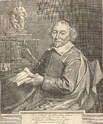 Joost van den Vondel - Portrait of Joost van den Vondel by Cornelis de Visscher, 1657