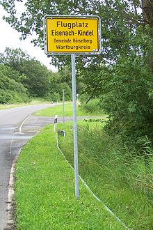 Flugplatz Eisenach-Kindel – Wikipedia