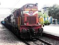 WDG 3A Twin Locomotives from Kalyan shed with a north bound freight at Malkajgiri 01.jpg