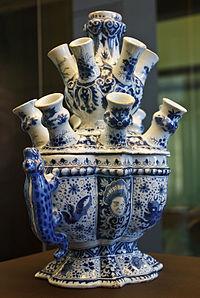 Porcelaine Ancienne Pot Sel Decor Folklorique Baleares