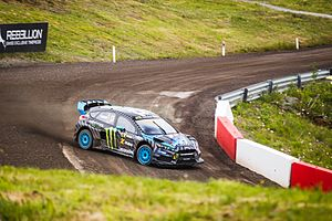 2016 World RX of Norway - Andreas Bakkerud became the first person to win all four heats, their semi-final and the final in one World Championship event